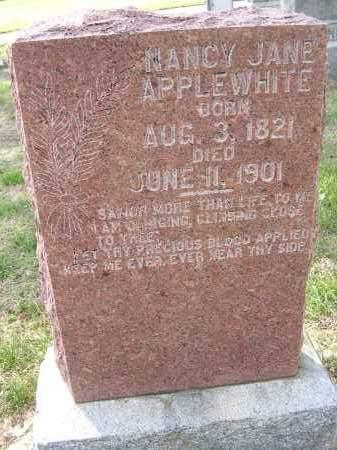 APPLEWHITE, NANCY JANE - Cross County, Arkansas   NANCY JANE APPLEWHITE - Arkansas Gravestone Photos