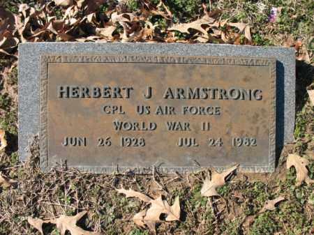 ARMSTRONG (VETERAN WWII), HERBERT J - Cross County, Arkansas   HERBERT J ARMSTRONG (VETERAN WWII) - Arkansas Gravestone Photos