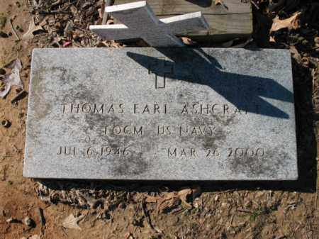 ASHCRAFT (VETERAN), THOMAS EARL - Cross County, Arkansas   THOMAS EARL ASHCRAFT (VETERAN) - Arkansas Gravestone Photos
