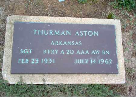 ASTON (VETERAN), THURMAN - Cross County, Arkansas | THURMAN ASTON (VETERAN) - Arkansas Gravestone Photos