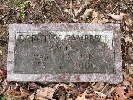 CAMPBELL BACON, DOROTHY - Cross County, Arkansas | DOROTHY CAMPBELL BACON - Arkansas Gravestone Photos