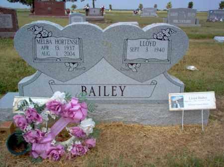 HORTENSE BAILEY, MELBA - Cross County, Arkansas | MELBA HORTENSE BAILEY - Arkansas Gravestone Photos