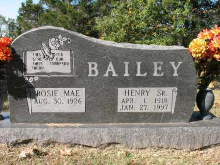 BAILEY, SR., HENRY - Cross County, Arkansas | HENRY BAILEY, SR. - Arkansas Gravestone Photos