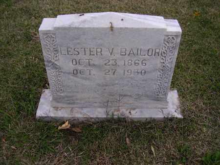 BAILOR, LESTER V - Cross County, Arkansas | LESTER V BAILOR - Arkansas Gravestone Photos
