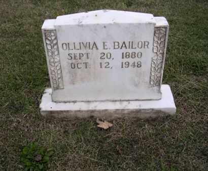 BAILOR, OLLIVIA E - Cross County, Arkansas | OLLIVIA E BAILOR - Arkansas Gravestone Photos