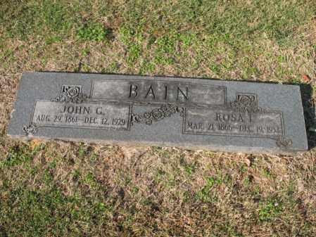 BAIN, JOHN G - Cross County, Arkansas   JOHN G BAIN - Arkansas Gravestone Photos