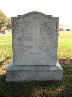 BAIN, ALICE - Cross County, Arkansas | ALICE BAIN - Arkansas Gravestone Photos