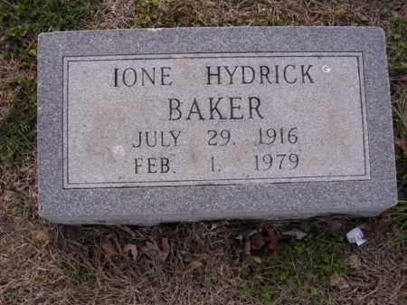 HYDRICK BAKER, IONE - Cross County, Arkansas | IONE HYDRICK BAKER - Arkansas Gravestone Photos