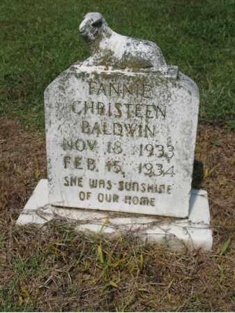 BALDWIN, FANNIE CHRISTEEN - Cross County, Arkansas | FANNIE CHRISTEEN BALDWIN - Arkansas Gravestone Photos