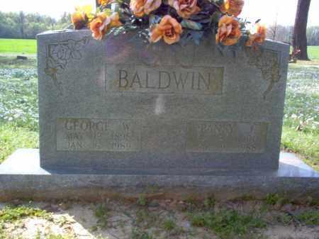 BALDWIN, GEORGE W - Cross County, Arkansas | GEORGE W BALDWIN - Arkansas Gravestone Photos