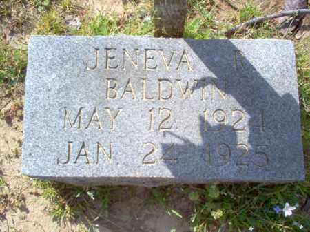 BALDWIN, JENEVA R - Cross County, Arkansas   JENEVA R BALDWIN - Arkansas Gravestone Photos