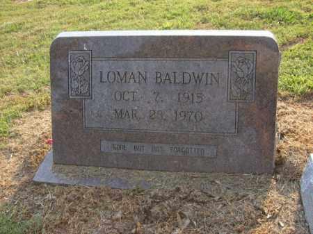BALDWIN, LOMAN - Cross County, Arkansas   LOMAN BALDWIN - Arkansas Gravestone Photos