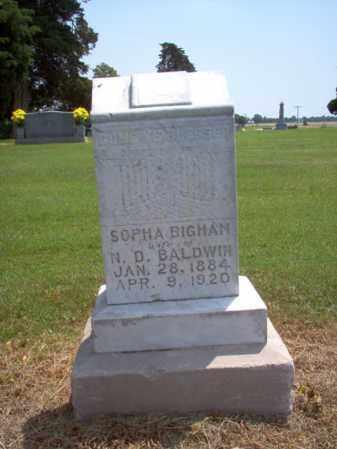 BIGHAM BALDWIN, SOPHA - Cross County, Arkansas | SOPHA BIGHAM BALDWIN - Arkansas Gravestone Photos