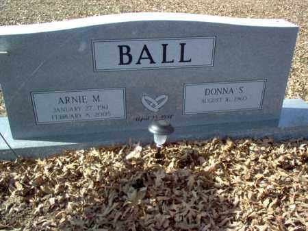 BALL, ARNIE M - Cross County, Arkansas | ARNIE M BALL - Arkansas Gravestone Photos