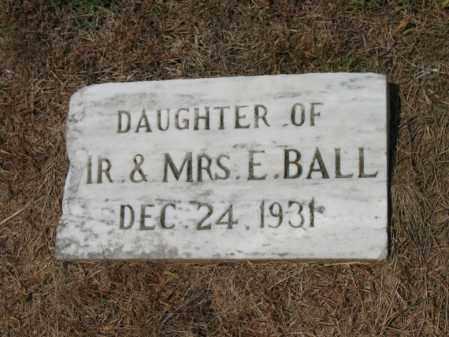 BALL, DAUGHTER - Cross County, Arkansas | DAUGHTER BALL - Arkansas Gravestone Photos