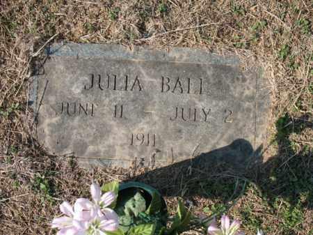 BALL, JULIA - Cross County, Arkansas   JULIA BALL - Arkansas Gravestone Photos