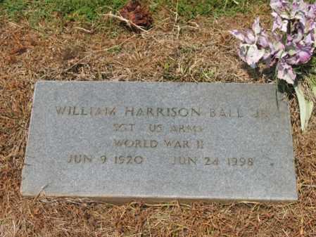 BALL, JR (VETERAN WWII), WILLIAM HARRISON - Cross County, Arkansas | WILLIAM HARRISON BALL, JR (VETERAN WWII) - Arkansas Gravestone Photos