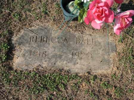 BALL, REBECCA - Cross County, Arkansas | REBECCA BALL - Arkansas Gravestone Photos