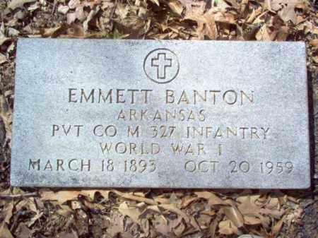 BANTON  (VETERAN WWI), EMMETT - Cross County, Arkansas   EMMETT BANTON  (VETERAN WWI) - Arkansas Gravestone Photos