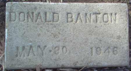 BANTON, DONALD - Cross County, Arkansas | DONALD BANTON - Arkansas Gravestone Photos
