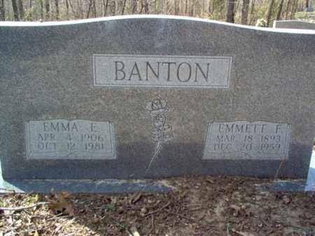 BANTON, EMMA E. - Cross County, Arkansas | EMMA E. BANTON - Arkansas Gravestone Photos