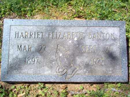 BANTON, HARRIET ELIZABETH - Cross County, Arkansas | HARRIET ELIZABETH BANTON - Arkansas Gravestone Photos