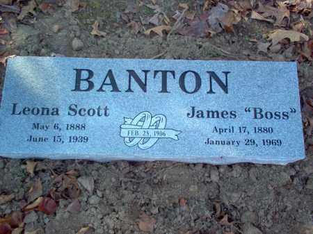 SCOTT BANTON, LEONA - Cross County, Arkansas | LEONA SCOTT BANTON - Arkansas Gravestone Photos