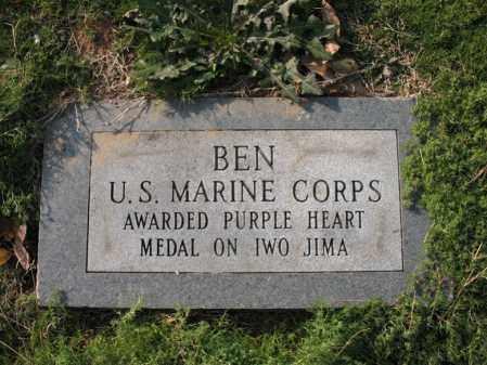 BARKER (VETERAN WWII), BEN L - Cross County, Arkansas   BEN L BARKER (VETERAN WWII) - Arkansas Gravestone Photos