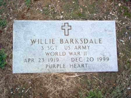 BARKSDALE (VETERAN WWII), WILLIE W - Cross County, Arkansas | WILLIE W BARKSDALE (VETERAN WWII) - Arkansas Gravestone Photos