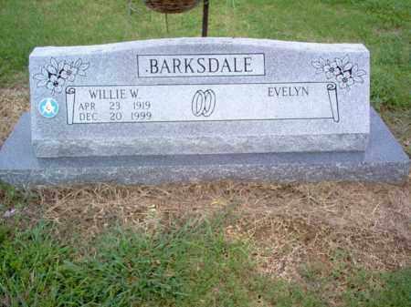 BARKSDALE, WILLIE W - Cross County, Arkansas   WILLIE W BARKSDALE - Arkansas Gravestone Photos