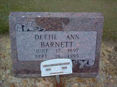 BARNETT, DETTIE ANN - Cross County, Arkansas | DETTIE ANN BARNETT - Arkansas Gravestone Photos