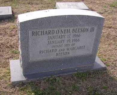 BEESON III, RICHARD O'NEIL - Cross County, Arkansas | RICHARD O'NEIL BEESON III - Arkansas Gravestone Photos