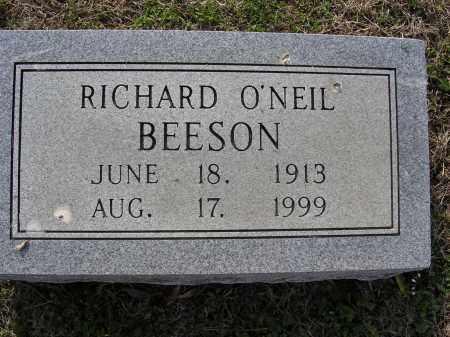BEESON, RICHARD O'NEIL - Cross County, Arkansas   RICHARD O'NEIL BEESON - Arkansas Gravestone Photos