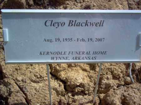 BLACKWELL, CLEYO - Cross County, Arkansas | CLEYO BLACKWELL - Arkansas Gravestone Photos