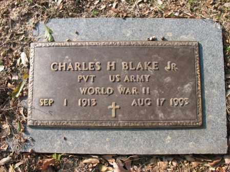BLAKE, JR (VETERAN WWII), CHARLES HARRISON - Cross County, Arkansas | CHARLES HARRISON BLAKE, JR (VETERAN WWII) - Arkansas Gravestone Photos