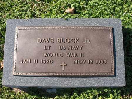 BLOCK, JR (VETERAN WWII), DAVE - Cross County, Arkansas   DAVE BLOCK, JR (VETERAN WWII) - Arkansas Gravestone Photos
