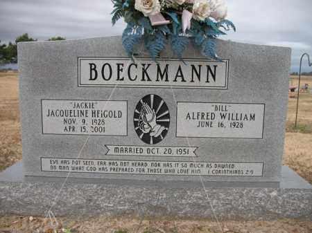"HEIGOLD BOECKMANN, JACQUELINE ""JACKIE"" - Cross County, Arkansas | JACQUELINE ""JACKIE"" HEIGOLD BOECKMANN - Arkansas Gravestone Photos"