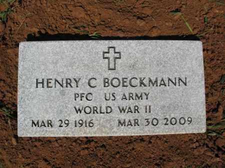 BOECKMANN, JR (VETERAN WWII), HENRY CHARLES - Cross County, Arkansas | HENRY CHARLES BOECKMANN, JR (VETERAN WWII) - Arkansas Gravestone Photos