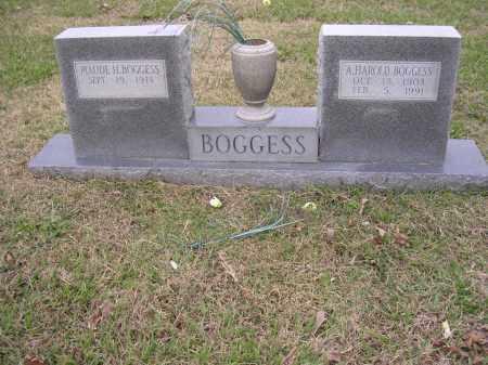 BOGGESS, A HAROLD - Cross County, Arkansas | A HAROLD BOGGESS - Arkansas Gravestone Photos