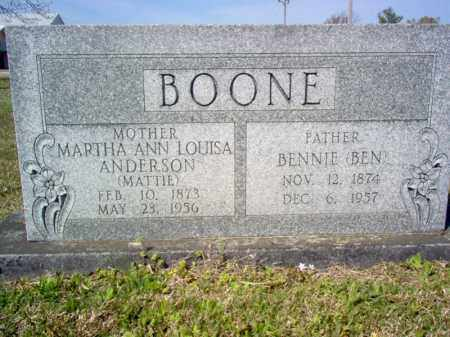 "BOONE, BENNIE ""BEN"" - Cross County, Arkansas | BENNIE ""BEN"" BOONE - Arkansas Gravestone Photos"