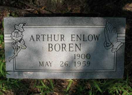 BOREN, ARTHUR ENLOW - Cross County, Arkansas | ARTHUR ENLOW BOREN - Arkansas Gravestone Photos