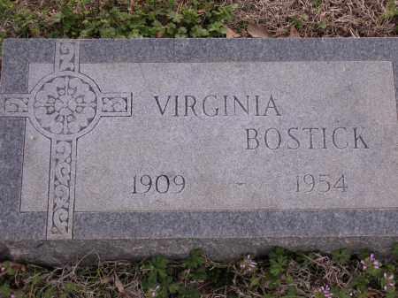 BOSTICK, VIRGINIA - Cross County, Arkansas   VIRGINIA BOSTICK - Arkansas Gravestone Photos