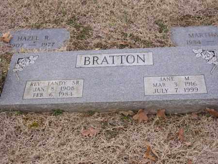BRATTON, JANE M - Cross County, Arkansas | JANE M BRATTON - Arkansas Gravestone Photos