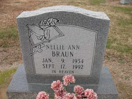 BRAUN, NELLIE ANN - Cross County, Arkansas | NELLIE ANN BRAUN - Arkansas Gravestone Photos