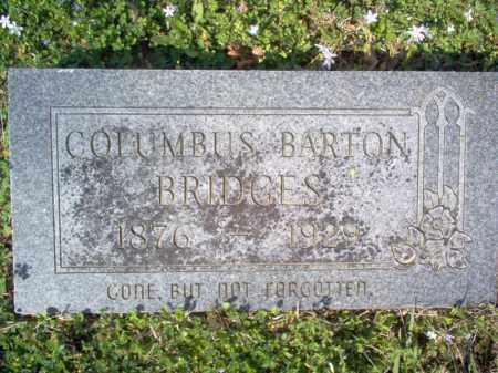 BRIDGES, COLUMBUS BARTON - Cross County, Arkansas | COLUMBUS BARTON BRIDGES - Arkansas Gravestone Photos