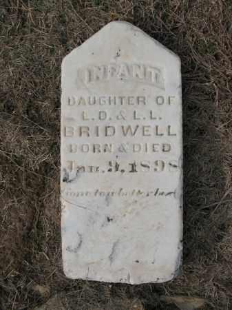 BRIDWELL, INFANT DAUGHTER - Cross County, Arkansas | INFANT DAUGHTER BRIDWELL - Arkansas Gravestone Photos