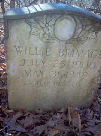 BRIMAGE, WILLIE - Cross County, Arkansas   WILLIE BRIMAGE - Arkansas Gravestone Photos