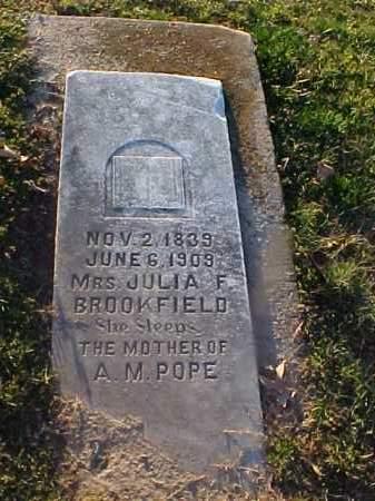 BROOKFIELD, JULIA F - Cross County, Arkansas   JULIA F BROOKFIELD - Arkansas Gravestone Photos