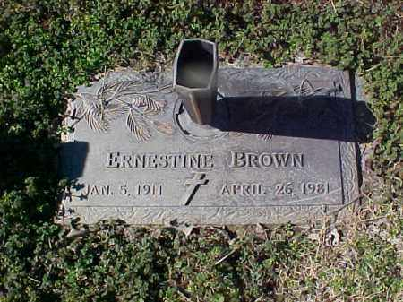 BROWN, ERNESTINE - Cross County, Arkansas   ERNESTINE BROWN - Arkansas Gravestone Photos