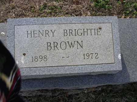 BROWN, HENRY BRIGHTIE - Cross County, Arkansas   HENRY BRIGHTIE BROWN - Arkansas Gravestone Photos